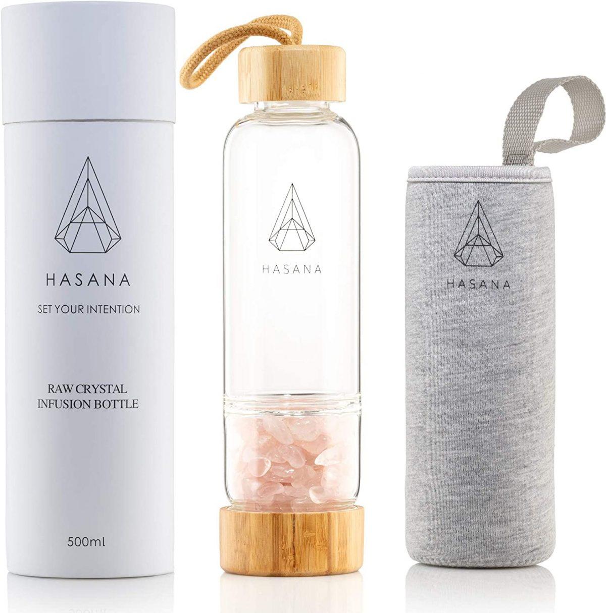 rose quartz water bottle